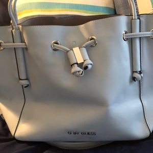 G by Guess baby blue bucket purse